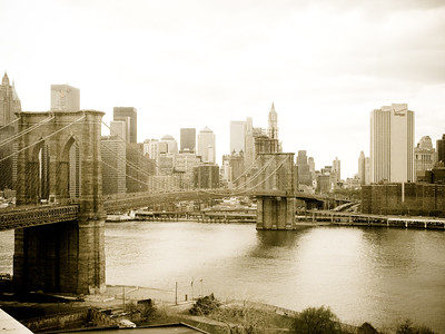 Brooklyn Bridge over the Hudson River