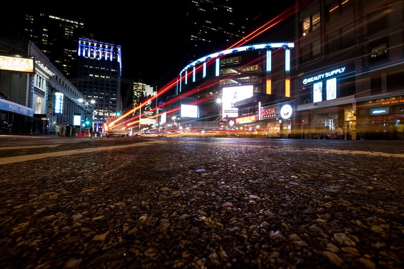 8th Avenue & 29th Street at Night