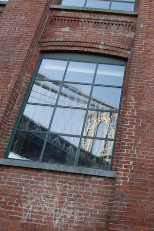 Manhattan Bridge Window Reflection