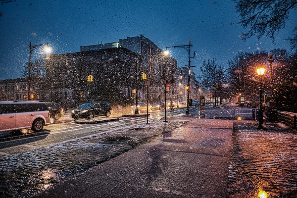 A Snowy Night in Park Slope
