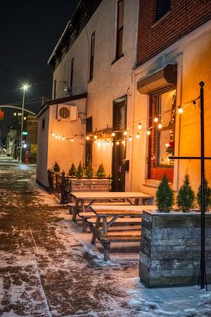 Snow Scene in Brooklyn