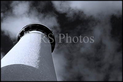 Au Sable Lighthouse Black and White Spring 2008