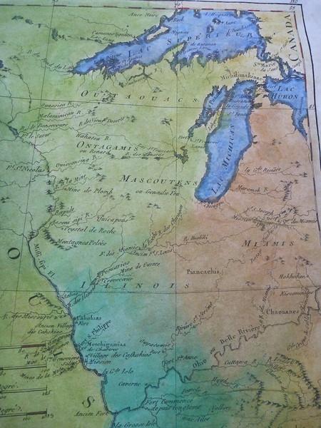 Detail of our SECOND available LES ETATS UNIS historic map.