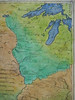 detail, Wis, Les Etats Unis.<br /> <br /> This map is especially rich in information on the East side of the river. This detail shows the Ohio to the Great Lakes. Pause your cursor over the right side of the map to ENLARGE.