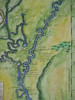 Detail of the Mississippi River and a portion of the Red River which enters the Mississippi. Pointe Coupee is at the very bottom.<br /> <br /> We have two hand-painted historic reproductions available of this map. This detail is from #1.