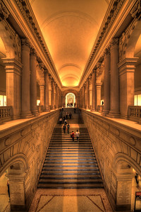Stairs into Art - Main Stairway in the Metropolitan Museum