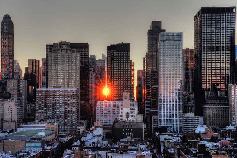 Morning Reflections - Dawn at Midtown Manhattan