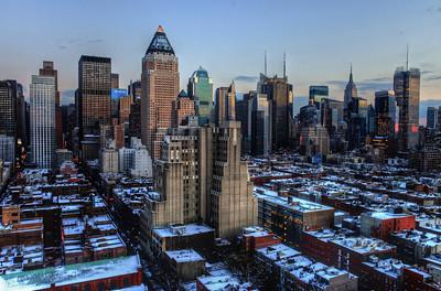 Midtown Manhattan - Winter Sunset