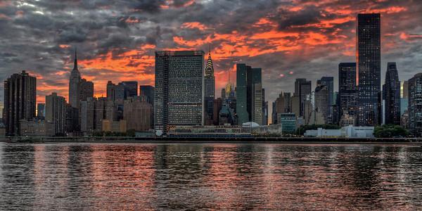 Crimson Skys over Manhattan