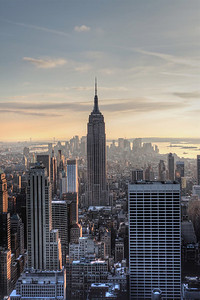 The Mighty Empire States Building Dominates the Manhattan Skyline