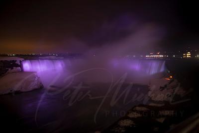 Niagara Falls, Ontario , New York, Horse shoe falls, aerial views, ice , winter, frozen