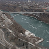 Niagara Falls, Ontario , New York, Horse shoe falls, aerial views, ice , winter, frozen