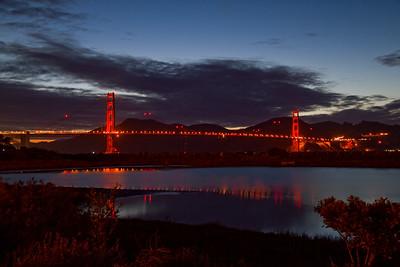 The Golden Gate Bridge in February.