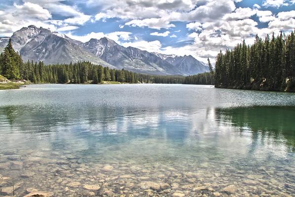 View from Johnson Lake - Banff National Park, Alberta Canada.