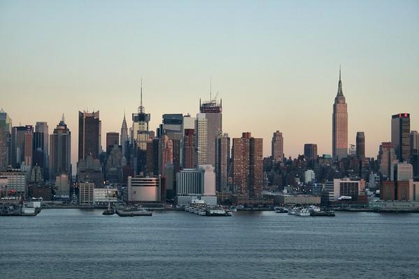 NYC Skyline from Hamilton Park, Weehawken, NJ.