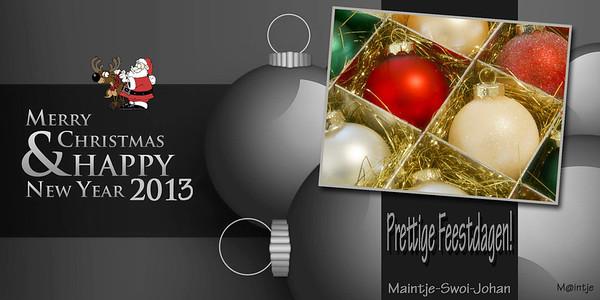 Nieuwe kaartjes 2012-2013... 'HAPPY 2013'...