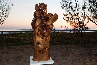 Ruptured Helix, Eric Green - Swell Sculpture Festival 2012, Dawn Visit; Currumbin, Gold Coast, Queensland, Australia; 21 September 2012. Photos by Des Thureson.