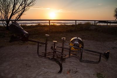 Trumpet, Michel Bonaldo - Swell Sculpture Festival 2012, Dawn Visit; Currumbin, Gold Coast, Queensland, Australia; 21 September 2012. Photos by Des Thureson.