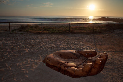 A Peaceful Moment, Dion Parker - Swell Sculpture Festival 2012, Dawn Visit; Currumbin, Gold Coast, Queensland, Australia; 21 September 2012. Photos by Des Thureson.