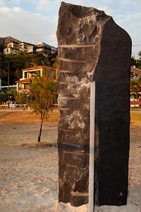 (Rear Side) - Event Horizon, by Luke Zwolsman - Swell Sculpture Festival 2012, Dawn Visit; Currumbin, Gold Coast, Queensland, Australia; 21 September 2012. Photos by Des Thureson.