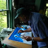 DSCN1236  Night Train, painting in the moon and sky base , june 11, 2012