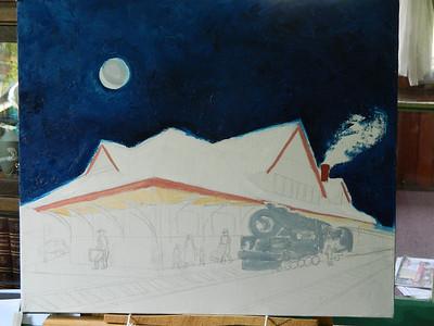 DSCN1239  Night Train, starting on the station , june 11, 2012
