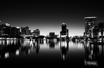 Don't Try This At Home  Lake Eola in Night Contrast // Orlando Downtown //