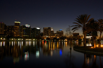 Lake Eola Night Colors  January 2009 // Downtown Orlando, FL //