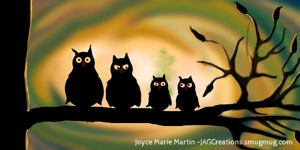 Owl's Family Portrait
