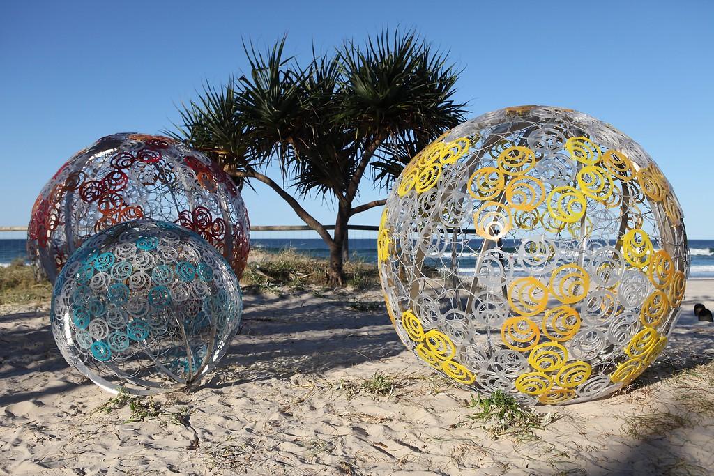 Sunshine, Kristy Foley Lewis, Matt Fischer - Swell Sculpture Festival 2013, Visit 1; Currumbin, Gold Coast, Queensland, Australia; 18 September 2013. Photos by Des Thureson