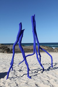 Blue Dancers Prelude & Quintet, Rainer Schlueter - Swell Sculpture Festival 2013, Visit 1; Currumbin, Gold Coast, Queensland, Australia; 18 September 2013. Photos by Des Thureson