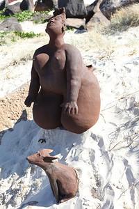 Blown Away, Marie France Rose - Swell Sculpture Festival 2013, Visit 1; Currumbin, Gold Coast, Queensland, Australia; 18 September 2013. Photos by Des Thureson