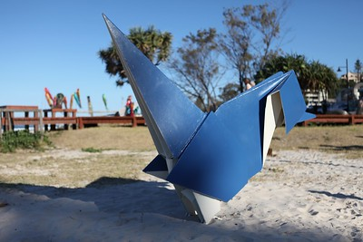 Blue Wren, Brad Jackson - Swell Sculpture Festival 2013, Visit 1; Currumbin, Gold Coast, Queensland, Australia; 18 September 2013. Photos by Des Thureson