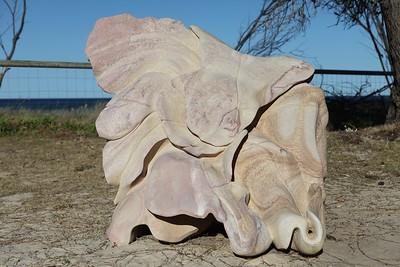 Meditation of the Heart of a Flower - Homage to Monet, Antone Bruinsma - Swell Sculpture Festival 2013, Visit 1; Currumbin, Gold Coast, Queensland, Australia; 18 September 2013. Photos by Des Thureson