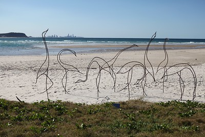 Water Birds, Jim Blower - Swell Sculpture Festival 2013, Visit 1; Currumbin, Gold Coast, Queensland, Australia; 18 September 2013. Photos by Des Thureson