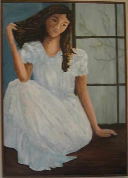 """Daydreaming<br /> Oil on canvas<br /> approx 36"""" x 48"""""""