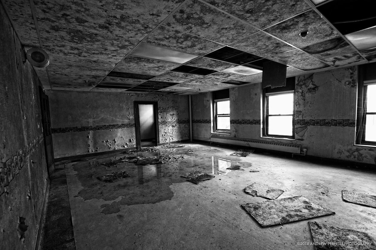 Empty Room Black and White