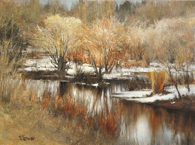 The Thaw; Killington, VT 18x24 Oil on Linen
