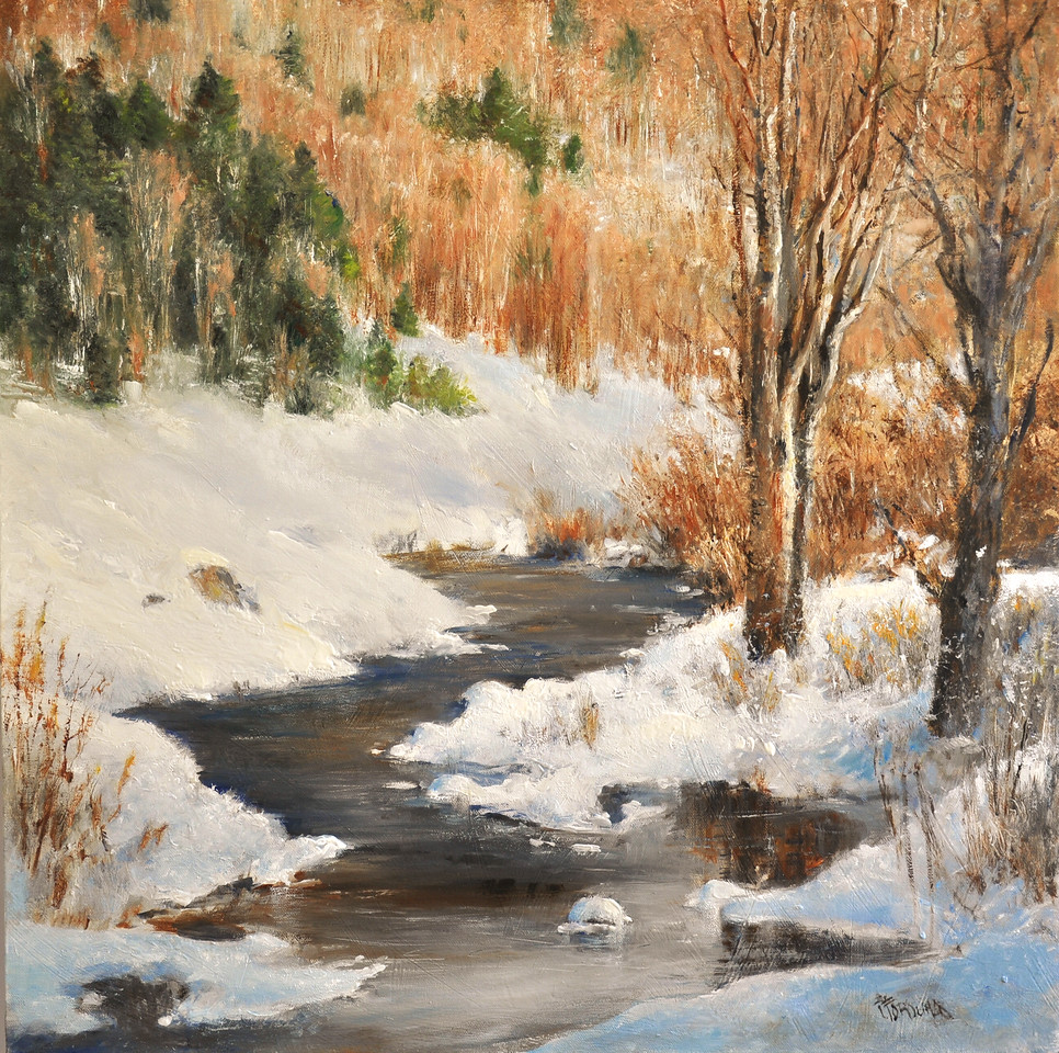 SOLD, Next Day, it was Sunny (Killington Winter, VT, March) Oil on Canvas 2
