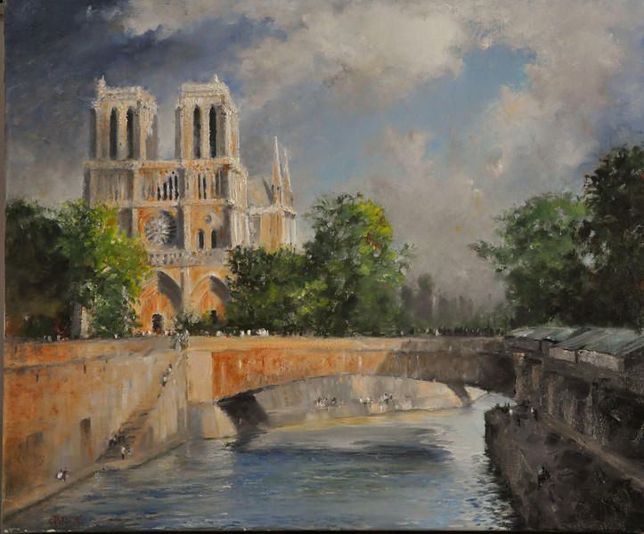 Notre Dame de Paris 24X24 (Paris, France) Oil on Canvas