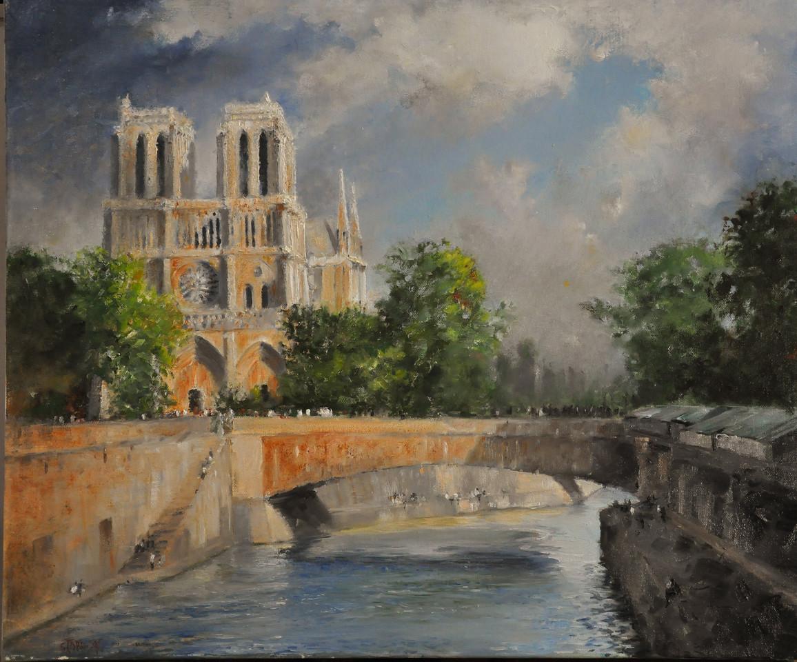 Notre Dame de Paris 24X24 (Paris, France) Oil on Canvas