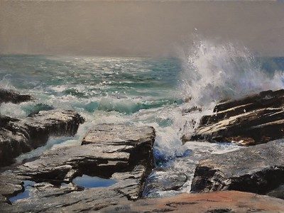 SOLD, Windy Day at the shore, Acadia