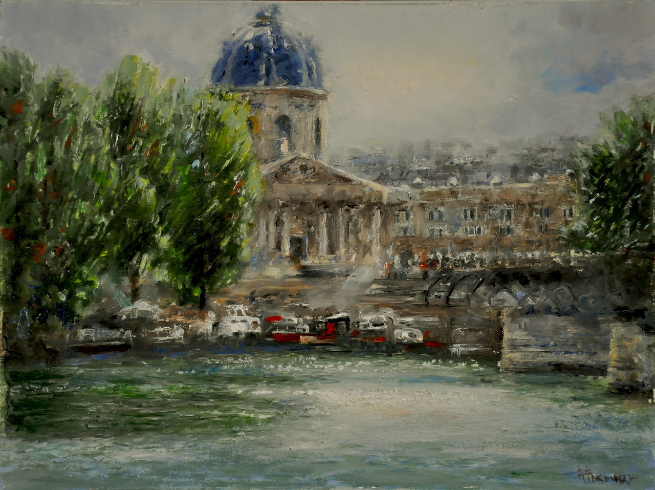 Institu Francais on Seine - 2 (Paris, France) Oil on Linen 12X16