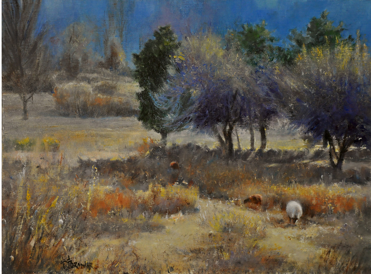 SOLD Fall's End (Hillstead Museum Farm, Farmington, CT) Oil on Linen 18X24 Awards: Maxwell Shepherd Memorial Art Fund, Annual Juried 2014 Gallery on the Green