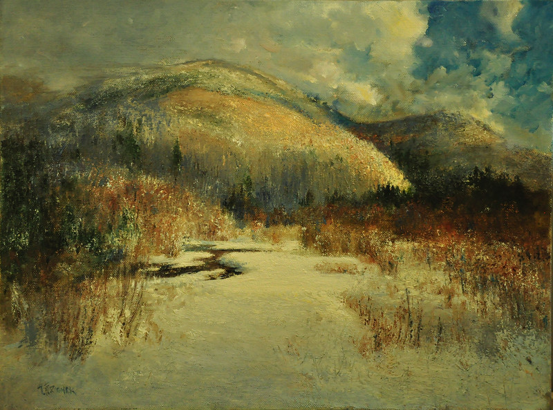 Song of Winter Brush; Killington, VT Oil on Linen; 18X24