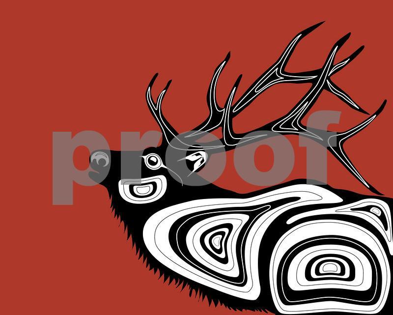 Elk: Pacific Northwest Indian Art by John Longfellow