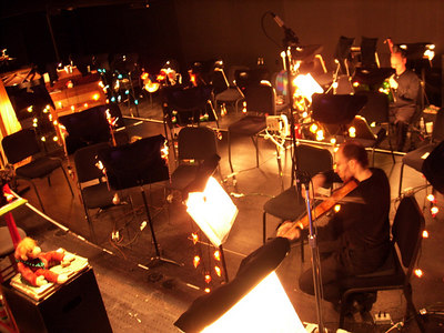 Orchestra pit (during interval)