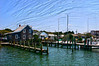 A view of the docks on Silver Lake in Ocracoke