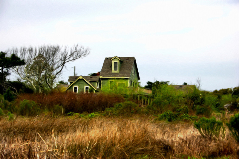 This home is one of the many beautiful images seen along the horizon near Ocracoke's Lighthouse.