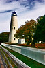 The oldest working lighthouse on the East Coast, Ocracoke's tower stands simple and proud.